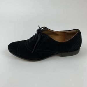 Clarks Suede Lace Up Oxford Loafers 8.5